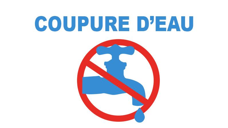 Coupure d'eau du lundi 3 à 17H au mardi 4 décembre 8H