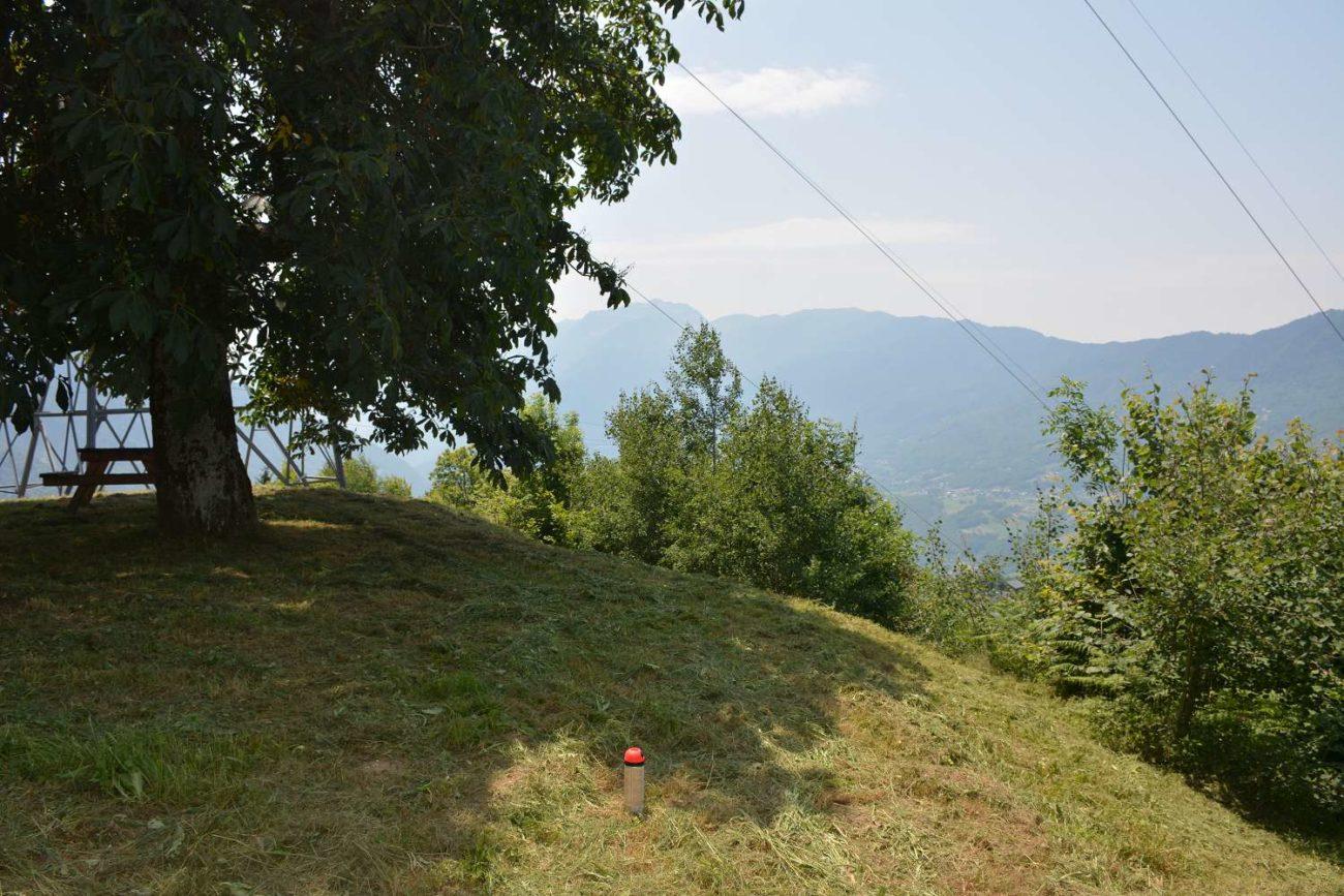 Sentier de montée à Monsapey