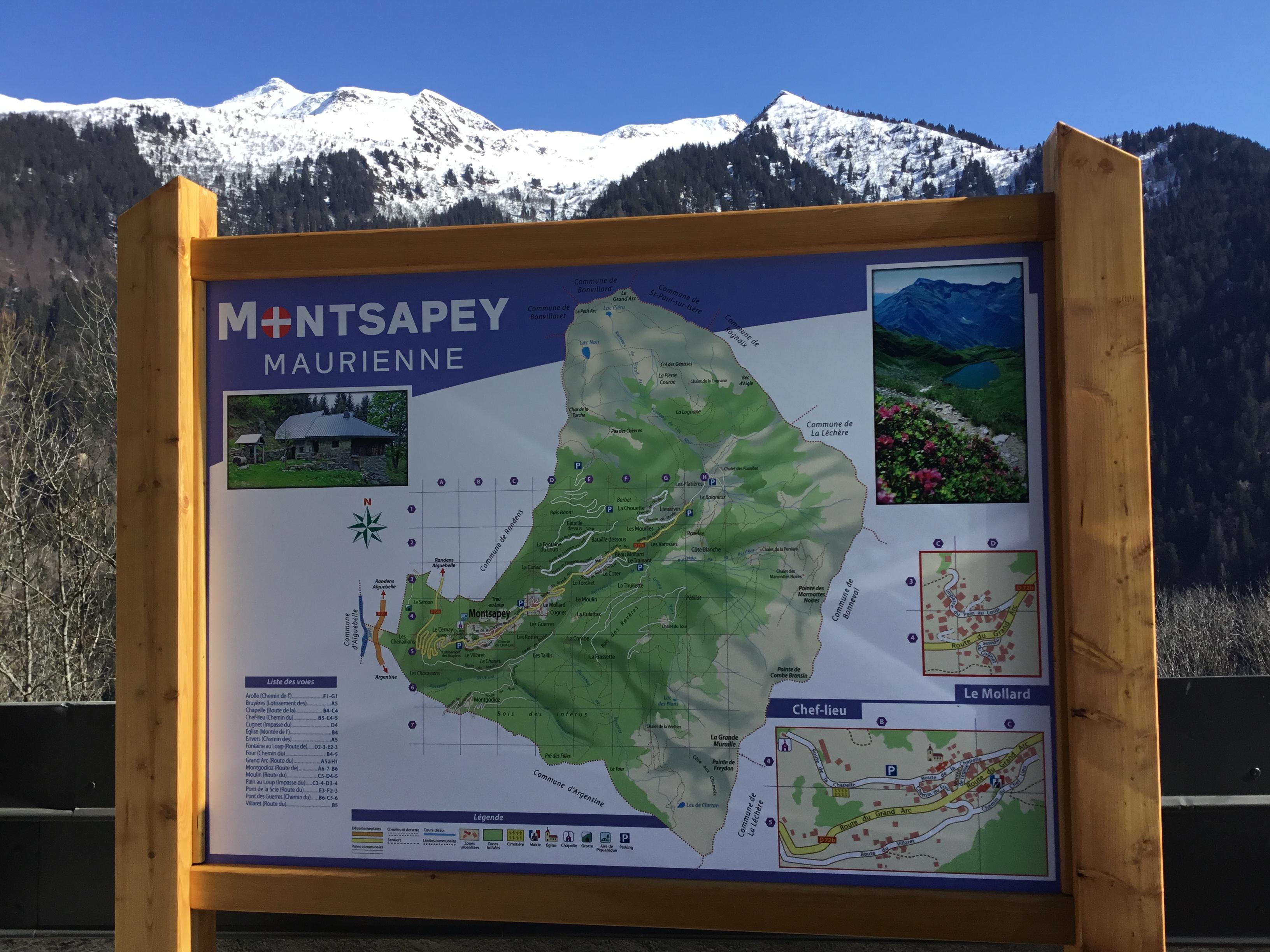 Image accueil de la page Adressage – Pose du nouveau plan du village au Chef Lieu du site Montsapey